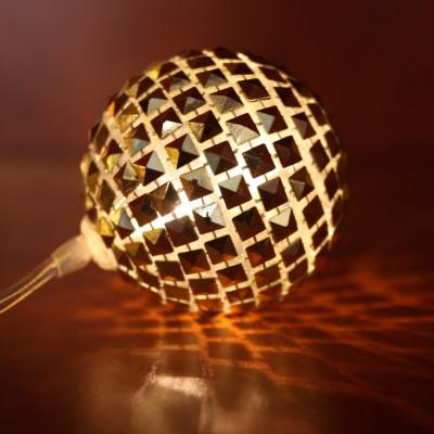 Deko goldener Ball LED Kette BLS-10
