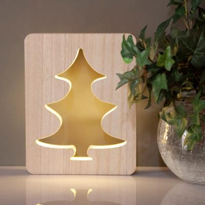LED Weihnachtsbaum aus Holz