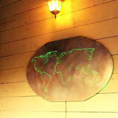 Sanded Worldmap