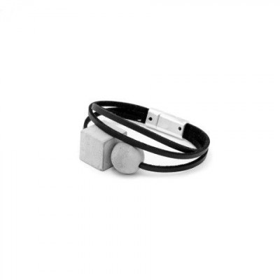 Armband DEEP | Grau & Schwarz