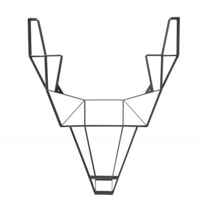 Regal Metallhirsch groß | Schwarz