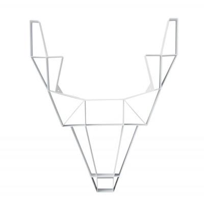 Regal Metall Hirsch groß | Weiß
