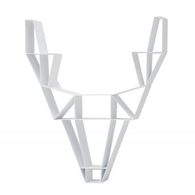 Regal Metallhirsch klein | Weiß