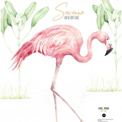 Wandaufkleber   Flamingo