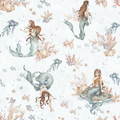 Tapete   Mermaids in Waves Light