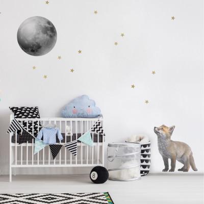 Wandaufkleber / 2er-Set   Fuchs & Mond