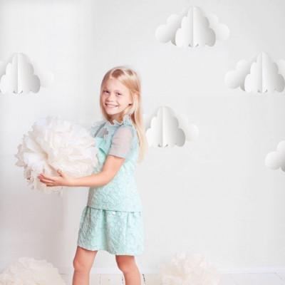 Wandaufkleber 3D-Wolken   Medium