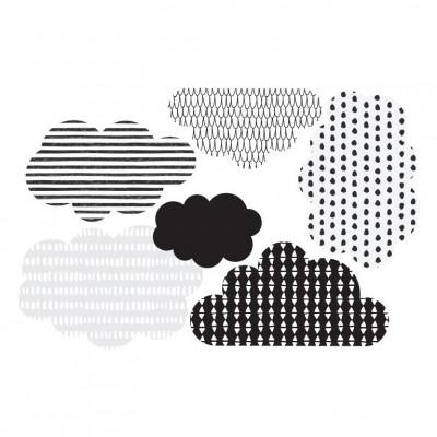 Wandaufkleber Skandinavische Wolken   Klein