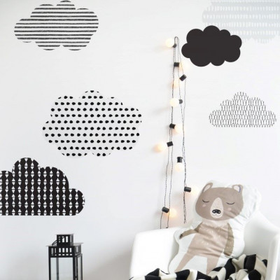 Wandaufkleber Skandinavische Wolken   Medium