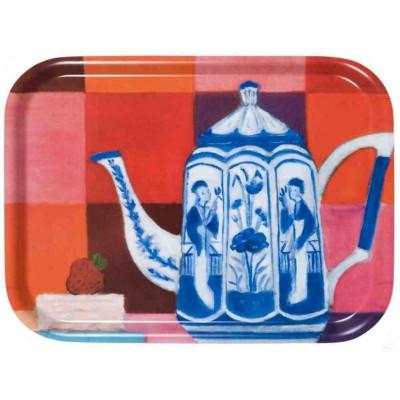 Tablett Delfter Blau Teekanne
