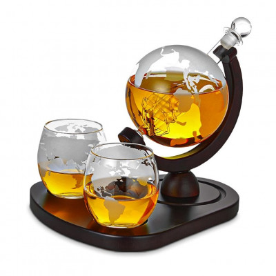 Karaffe + 2 Gläser Globus