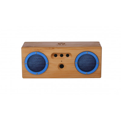 TAMBOR Natural Bamboo Bluetooth Speaker | Blue Denim