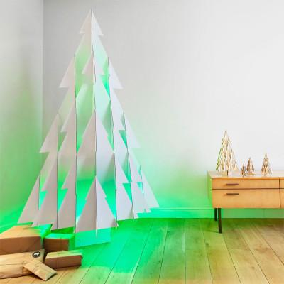 OdenneBoom Lifesize   Weißer Karton & LED-Leuchten 175 cm