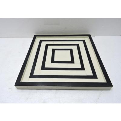 Tablett Quadrat B/W