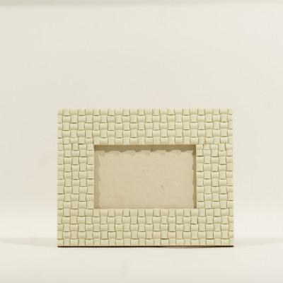 Bilderrahmen | 15 x 10 cm | Elfenbein-Steine