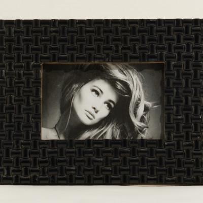 Bilderrahmen | 15 x 10 cm | Schwarze Steine