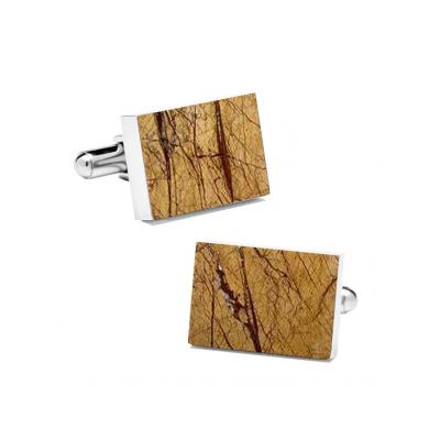 Marble Cuff Links | Desert Sand (Rectangular)
