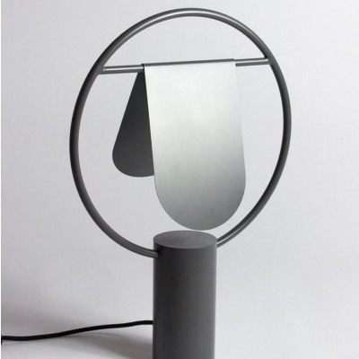 Standing Lamp Rotating Lampshade  Dark Grey