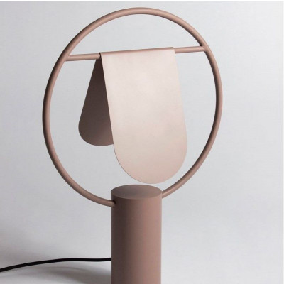 Standing Lamp Rotating Lampshade  Faded Pink