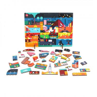 Puzzle Kars + Boom-Design | Nacht