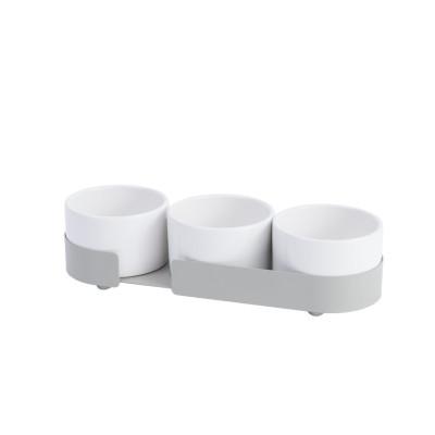 3er-Set Keramikbehältern Big Hug | Grau