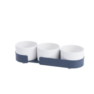 3er-Set Keramikbehältern Big Hug | Blau