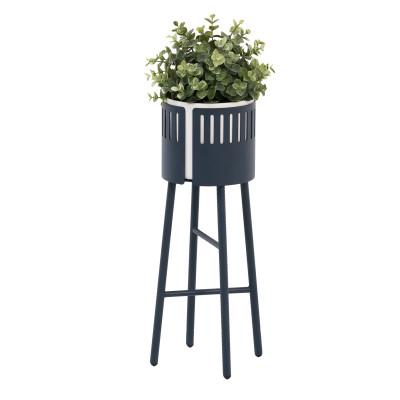 Stehender Blumentopf Low Big Hug | Mitternachtsblau