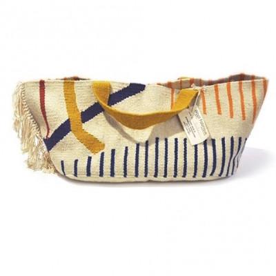 Cahotische Streifen - Ovale Einkaufstasche