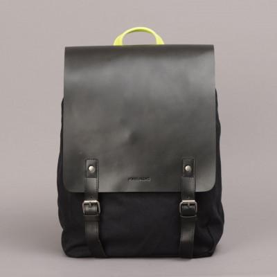 Devon Backpack   Black & Yellow