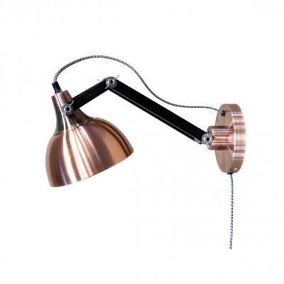 Wall Lamp Dexter | Black & Copper
