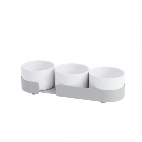 3er-Set Keramikbehältern Big Hug   Grau