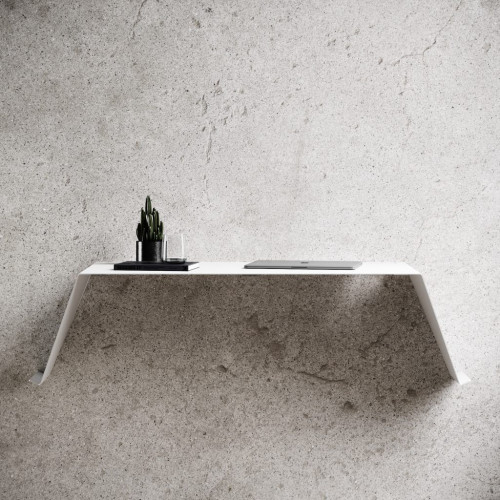 Wandmontierter Arbeitstisch Schreibtisch 01   Weiß
