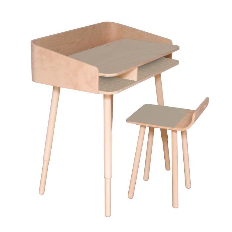 TonTon Schreibtisch & Stuhl Nebel Grau
