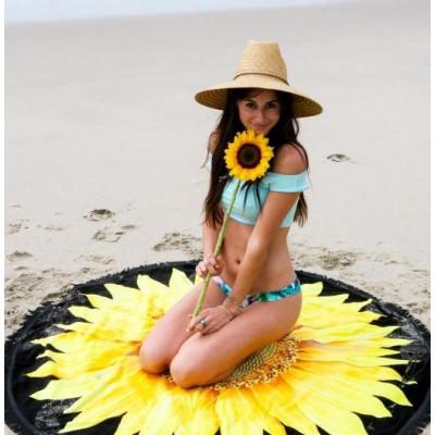 Round Beach Towel | Flower Child