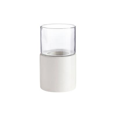 Keramik-Kerzenhalter Lesvos | Weiß