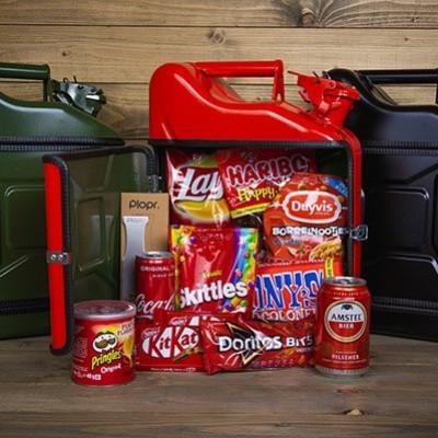 Geschenkpaket Jerrycan Bar 10 L | Rot