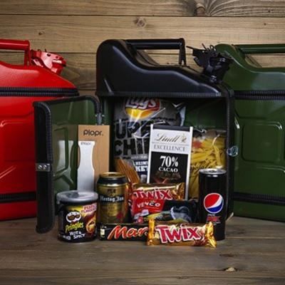 Geschenkpaket Jerrycan Bar 10 L | Schwarz