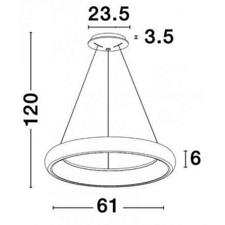 Pendelleuchte Albi D 61 cm H 120 | Grau