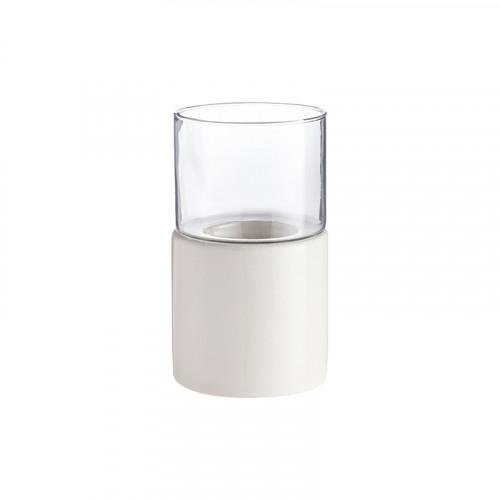 Keramik-Kerzenhalter Lesvos   Weiß