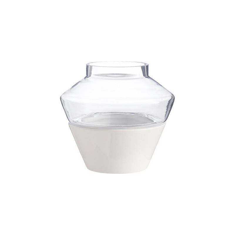 Keramik-Kerzenhalter Milo | Weiß