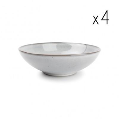 4er-Set tiefer Teller Freckles 19,5 cm | Grau