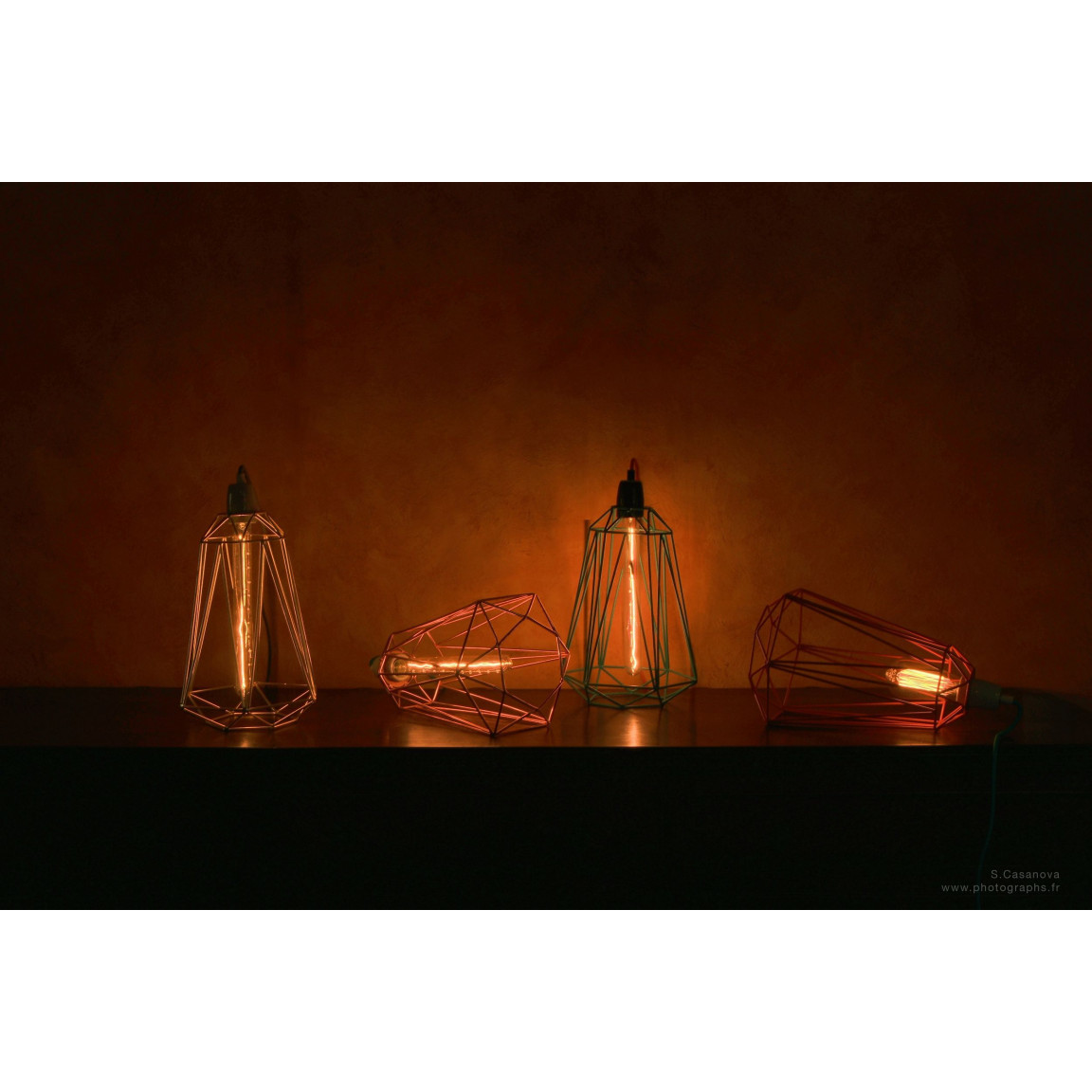 Diamant #5   Käfig Orange Kabel Grau