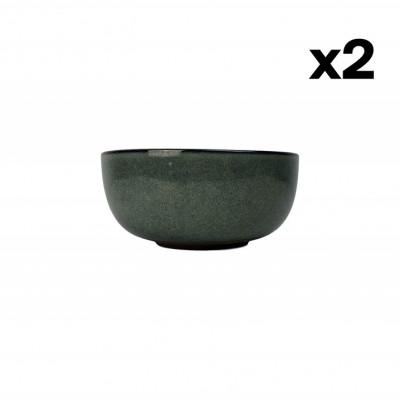 Salatschüssel Hamuza Azul Ø 25 cm 2er-Set   Blau