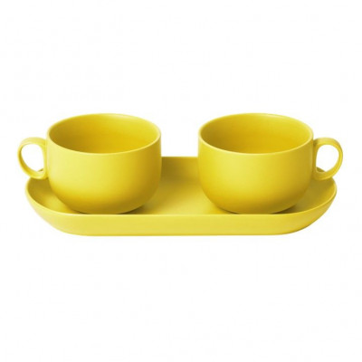 Bis Breakfast Cups with Tray   Yellow
