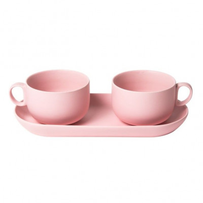 Bis Breakfast Cups with Tray   Pink