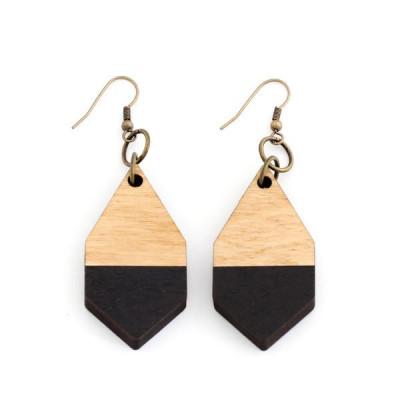 Diamante Earrings   Black