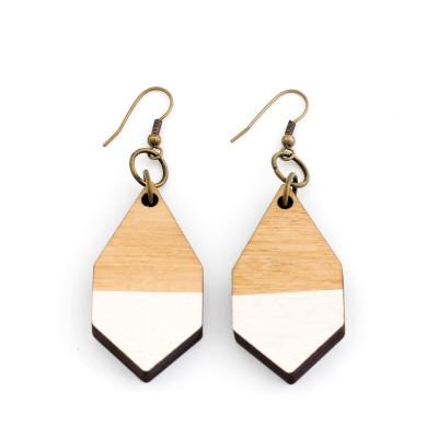 Diamante Earrings   White