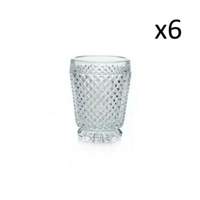 Glas-Diamanten 6er-Set   Klar