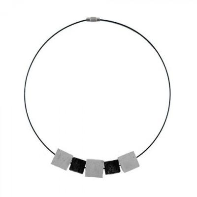 Halskette DIFFERENCES | Grau & Schwarz