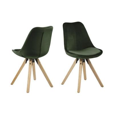 Stühle Nida | 2er-Set | Waldgrün & Holz